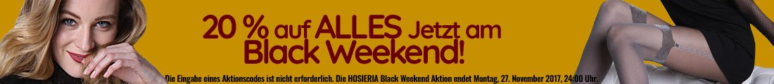 Black Weekend - 20% sparen!