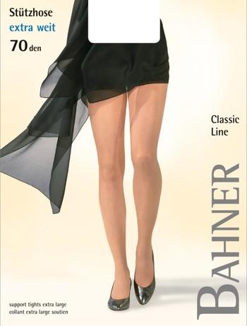 Bahner Classic Line Stuetzstrumpfhose extra weit, im Nylon und Strumpfhosen Shop