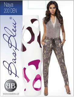 Bas Bleu Naya weite Leggings im Schlangenhautdesign