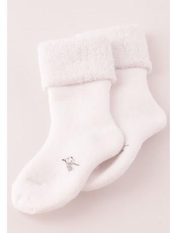 Bonnie Doon Frottee Babysocken white