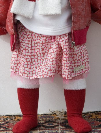 Bonnie Doon X-Mas Furry Kniestrümpfe strawberry