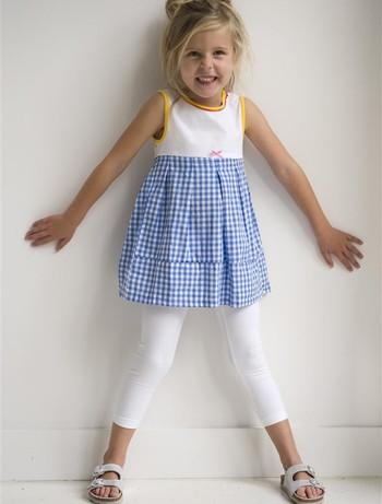 Bonnie Doon Schlanke Basic Kinder Leggings white