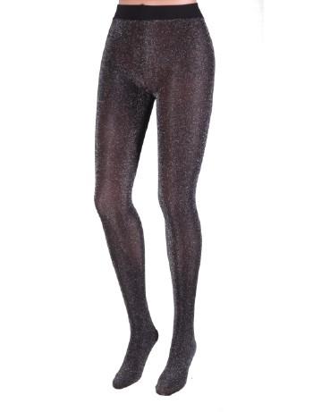Bonnie Doon Precious Strumpfhose metallic Look black/silver