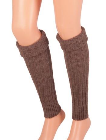 Bonnie Doon Sleever Stulpen dark brown heather