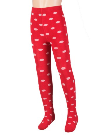 Bonnie Doon Dots gepunktete Strumpfhose strawberry