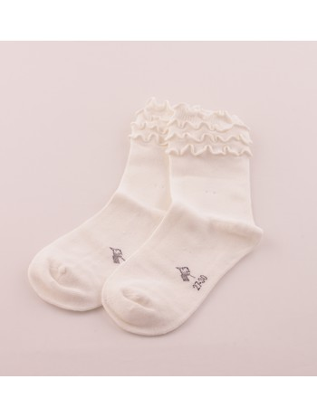 Bonnie Doon Frou Frou Kindersocken off white