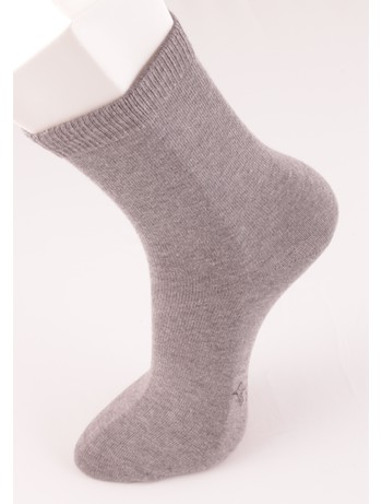 Bonnie Doon Baumwollsocken fuer Kinder medium grey heather