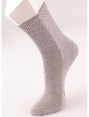 Bonnie Doon Baumwollsocken fuer Kinder light grey heather