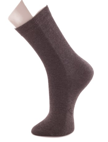Bonnie Doon Baumwollsocken fuer Kinder oxford heather