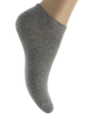 Bonnie Doon Cotton Short Sock light grey heather