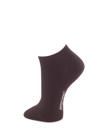 Bonnie Doon Cotton Short Sock black