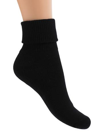 Bonnie Doon geplueschte Socke mit 3-fachem Umschlagbund, im Nylon und Strumpfhosen Shop