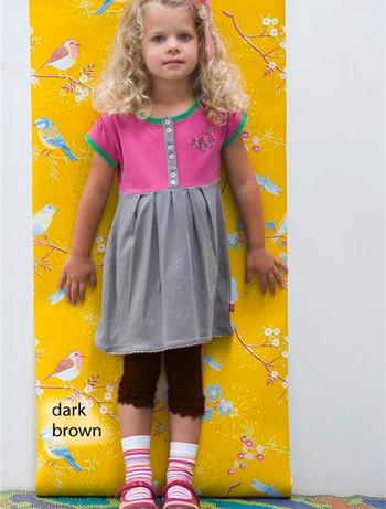 Bonnie Doon Frou Frou Capri Leggings fuer Kinder dark brown