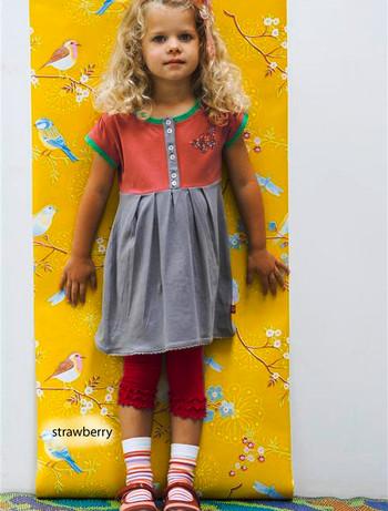 Bonnie Doon Frou Frou Capri Leggings fuer Kinder strawberry