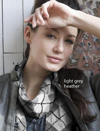 Bonnie Doon Argyle Schal light grey heather