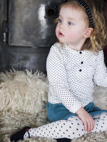 Bonnie Doon Ballerina gepunktete Baby Strumpfhose, im Nylon und Strumpfhosen Shop