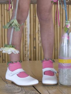 Bonnie Doon Lettuce Kindersocken mit Rueschenabluss