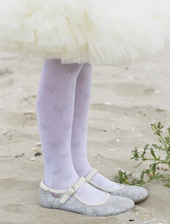 Bonnie Shiny Bow Strumpfhose, im Nylon und Strumpfhosen Shop
