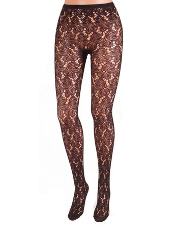Bonnie Doon Bruges Lace Strumpfhose black