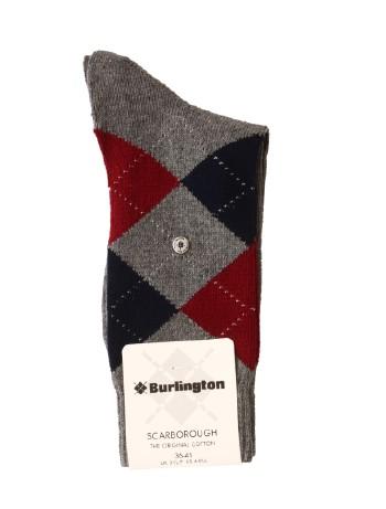Burlington Scarborough Cotton Baumwollsocken light grey mel.