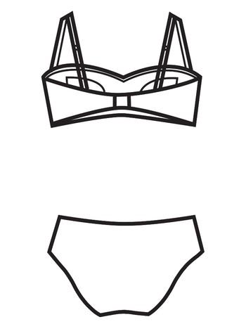 Bahama Beachwear Plage Rouge Bikini Plage Rouge