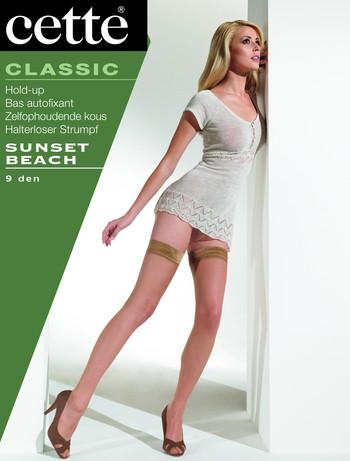 Cette Sunset Beach Halterloser Strumpf, im Nylon und Strumpfhosen Shop
