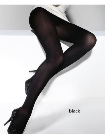 Schwarz Strapse Effekt Argyle Muster mit Gürtel 20 den Damen Tighst Strümpfe