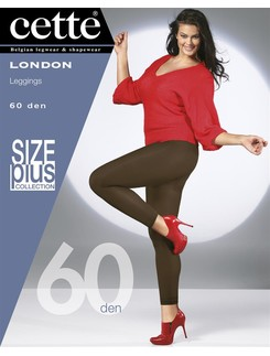 Cette London Size Plus 60 blickdichte Leggings