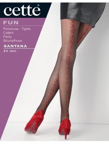Cette Santana Tuell Strumpfhose mit gebluemter Naht, im Nylon und Strumpfhosen Shop