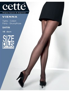 Cette Vienna Size Plus 16 feine Nahtstrumpfhose mit Hochferse