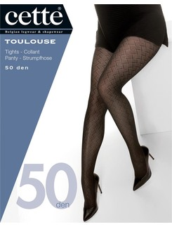 Cette Toulouse 50 Strumpfhose Plus Größe geometrisch