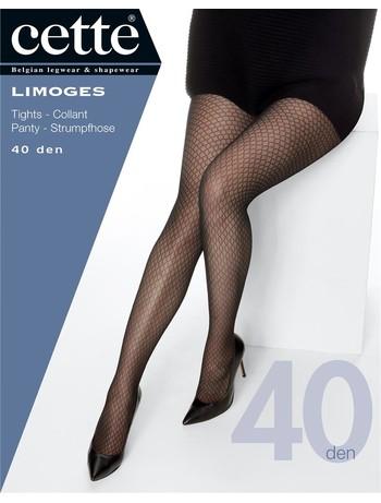 Cette Limoges 40 Übergröße Strumpfhose mit Honigwaben Motiv