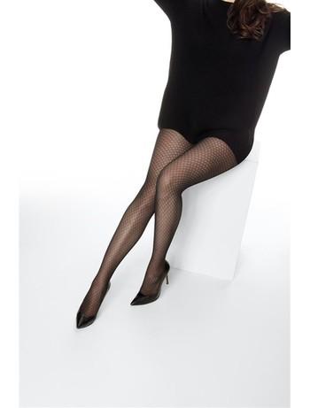 Cette Limoges 40 Übergröße Strumpfhose mit Honigwaben Motiv schwarz