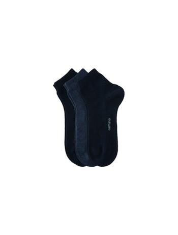 Camano Kurzsocken ohne Gummidruck marine