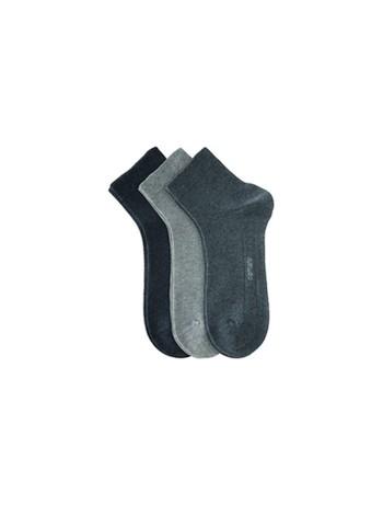 Camano Kurzsocken ohne Gummidruck grey combination