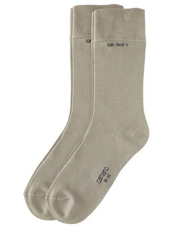 Camano Unisex Bio Baumwolle Socken 2er Pack sand