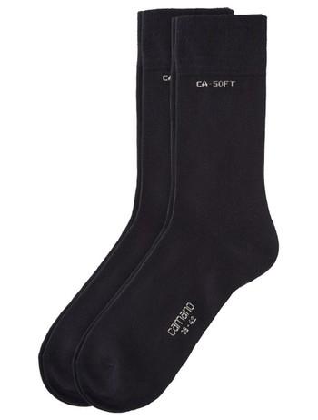 Camano Unisex Bio Baumwolle Socken 2er Pack dunkelbraun