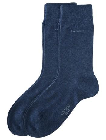 Camano CA-Soft feiner Socken Unisex Doppelpack antrazit melange