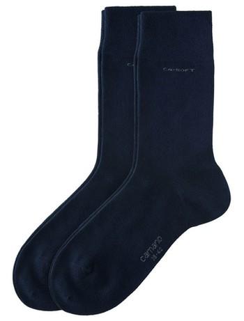 Camano CA-Soft feiner Socken Unisex Doppelpack grau