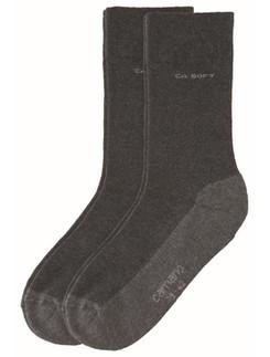 Camano Soft Walk Socken druckfrei mit Plüschsohle Doppelpack