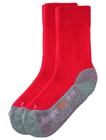 Camano Kinder Sportsocken 2er-Pack red-grey