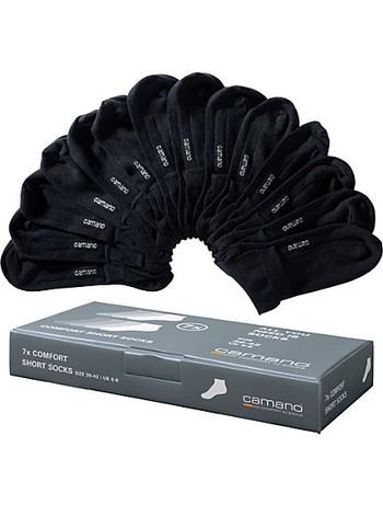 Camano Soft 7 Paar Sneaker Baumwoll-Kurzsocken schwarz