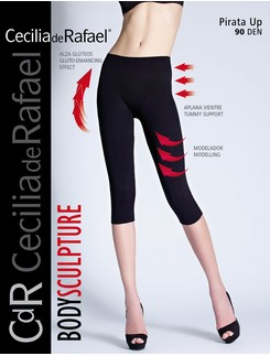 Cecila de Rafael Pirata Up figurformende Capri-Leggings
