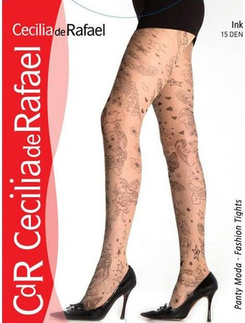 Cecilia de Rafael Ink Strumpfhose Komplett Tattoo Muster