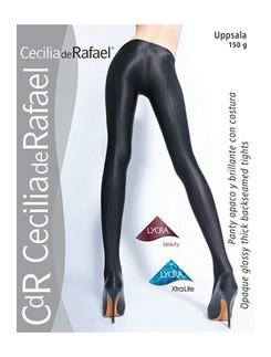 Cecila de Rafael Uppsala ultra-blickdichte Wet Look Strumpfhose