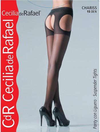 Cecilia de Rafael Chariss Straps-Strumpfhose schwarz
