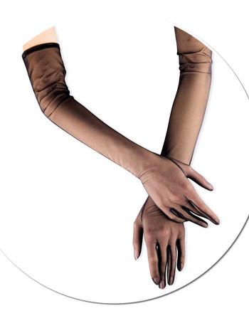Cervin Glamour lange Tuell Handschuhe, im Nylon und Strumpfhosen Shop