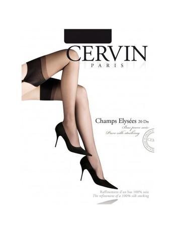 Cervin Champs-Elysee Seidenstrumpf - Cervin Champs-Elysee 20 Strapsstrumpf aus reiner Seide sehr Exklusiv mit Hochferse und glattem Abschluss in transparenter, sehr edeler Optik
