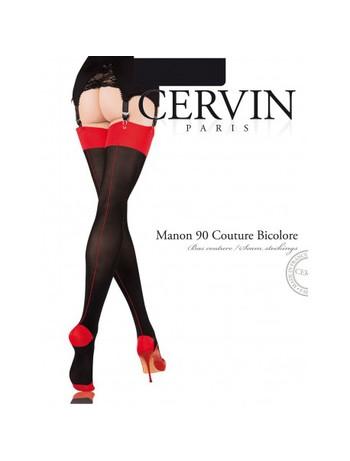 Manon 90 Couture Bicolore Strumpf