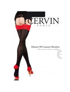 Cervin Manon 90 Couture Bicolore Strumpf